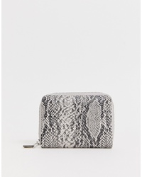 French Connection Snakeskin Zip Purse