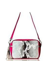 Grey Snake Leather Crossbody Bag