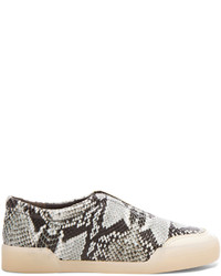 Morgan python print low top leather sneakers medium 184528