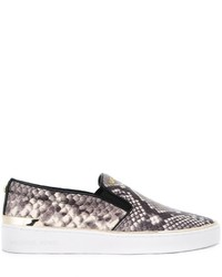 Michl michl kors snakeskin effect slip on sneakers medium 787758