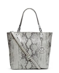 MICHAEL Michael Kors Michl Michl Kors Brooke Leather Tote Pearl Grey