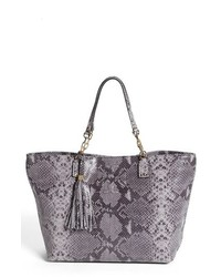 Tory Burch Thea Large Snake Embossed Leather Tote