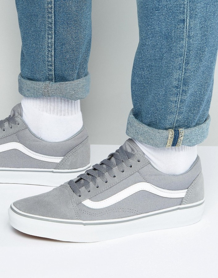 ... Vans Old Skool Sneakers In Gray Va31z9m4d ... b0fb4437e