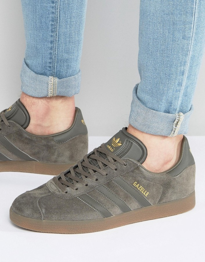 new concept 2cf7a b6c71 ... adidas Originals Gazelle Sneakers In Gray Bb2754 ...