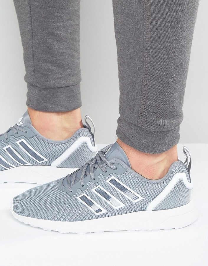 buy online d64be 6a151 £60, adidas Originals Zx Flux Adv Sneakers In Gray S79006