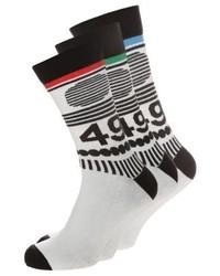 YOURTURN 3 Pack Socks Whiteblack