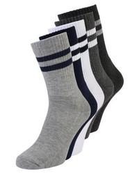 YOURTURN 5 Pack Socks Whiteblacklight