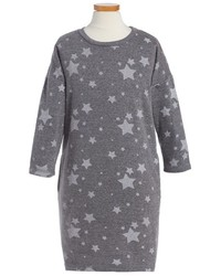 C&C California Girls C C California Star Print French Terry Sweatshirt Dress