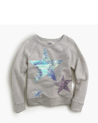 Grey Star Print Sweater