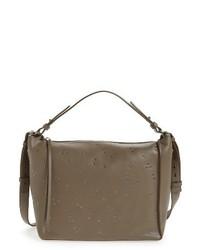 Junai studded convertible leather crossbody bag grey medium 1027035
