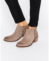 Dune Penelope Gray Suede Ankle Boot