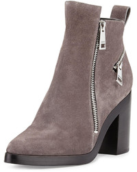 Kenzo Zip Detailed Suede Ankle Boot