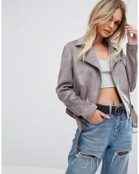 Faux suede biker jacket medium 6752741