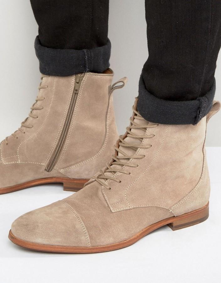 Zign Lace-up boots - grey izM792PEr
