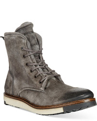 Grey Suede Casual Boots