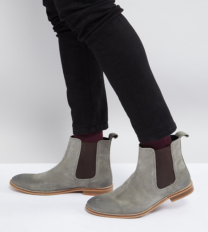 7096981be13 ... ASOS DESIGN Asos Wide Fit Chelsea Boots In Grey Suede