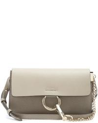 Chlo faye mini leather and suede cross body bag medium 1148688