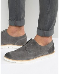Derby shoes in gray suede medium 1155722