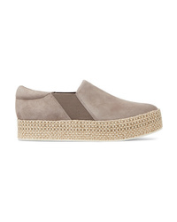 Vince Wilden Suede Espadrille Slip On Sneakers