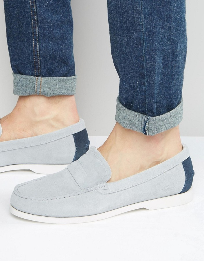 dae458e0a ... Lacoste Navire Suede Penny Loafers ...