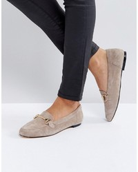 Taupe suede loafers medium 4420124