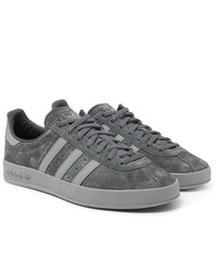 adidas Originals Broomfield Leather Trimmed Suede Sneakers