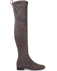 Lowland suede over the knee boots gray medium 662392