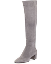 Gianvito Rossi Suede Block Heel Over The Knee Boot