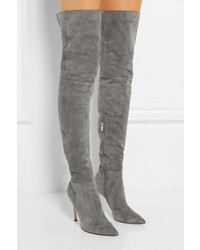 Gianvito Rossi Suede Over The Knee Boots | Where to buy & how to wear