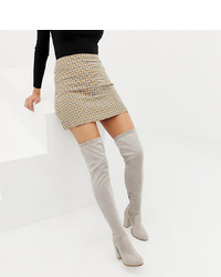 ASOS DESIGN Wide Fit Kassidy Heeled Over The Knee Boots