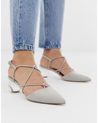 ASOS DESIGN Sunset Knotted Ball Heels In Grey