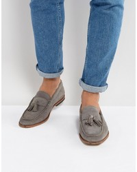 Loafers in gray suede with tassels medium 4418875