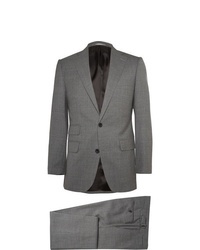 Thom Sweeney Grey Weighouse Slim Fit Wool Suit