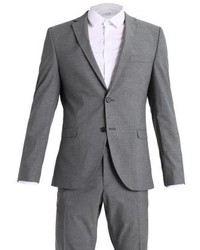 Shdnewone mylologan slim fit suit medium grey melange medium 3840265