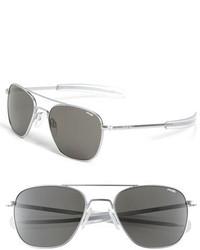 83f02b1d71 ... Randolph Engineering 55mm Aviator Sunglasses Matte Chrome Grey