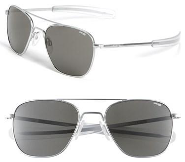 91a81f52260 ... Randolph Engineering 55mm Aviator Sunglasses Matte Chrome Grey ...