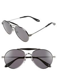 Givenchy 7012s 56mm Polarized Sunglasses Dark Rutheniumpolar