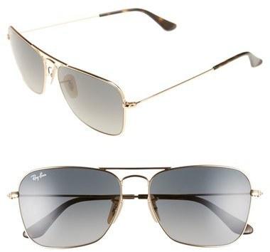 ca4d94b127c ... Ray-Ban Caravan 58mm Aviator Sunglasses ...