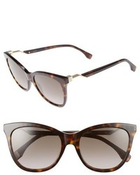 Fendi Cube 55mm Cat Eye Sunglasses