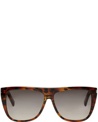 Saint Laurent Tortoiseshell Sl 1 Bold Sunglasses
