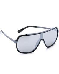 Marc Jacobs Sunglasses Flat Top Mirrored Sunglasses