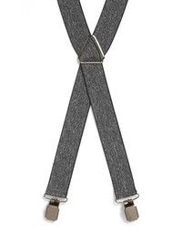 Topman Marled Suspenders Light Grey One Size
