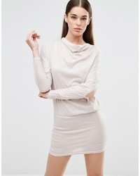 AX Paris Drape Open Split Arm Sweater Dress