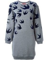 McQ by Alexander McQueen Mcq Alexander Mcqueen Swallow Sweatshirt Dress