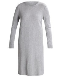 Pieces Pcmolly Jumper Dress Light Grey Melange