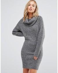 Vila Roll Neck Bodycon Sweater Dress