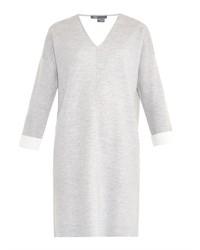 Vince V Neck Sweatshirt Dress
