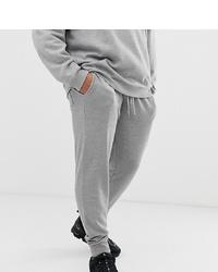 ASOS DESIGN Plus Skinny Joggers In Grey Marl