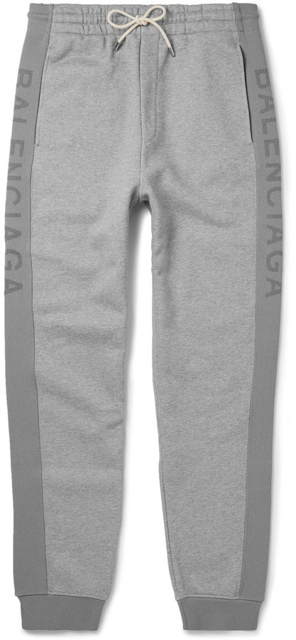 b3a752059 ... Balenciaga Slim Fit Tapered Fleece Back Cotton Jersey Sweatpants ...