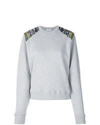 Saint Laurent Contrast Panel Sweatshirt